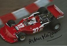 Arturo Merzario Firmato a Mano 12x8 photo formula 1 4.