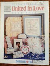 """Dimensions #128 Book 5 """"United in Love"""" Cross Stitch Designs"""