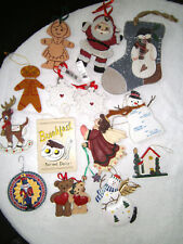 Christmas Tree Ornaments Lot Of 14