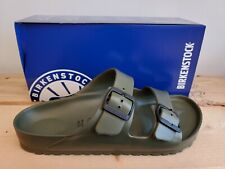 Birkenstock Arizona Eva Khaki Regular Fit Sandals Made in Germany for Men