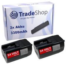 2x batería 24v 3300mah para AEG milwaukee bxl24 bxs24 mxl24 sh04 mxs24