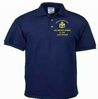 USS WILKES-BARRE  CL-103  CRUISER NAVY EMBROIDERED LIGHT WEIGHT POLO SHIRT