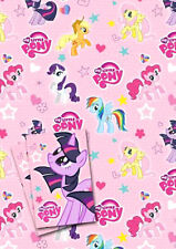 Official MY LITTLE PONY 2 x Gift Wrapping Sheets & 2 x Tags **FREE UK POSTAGE**