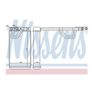 Fits Nissan Navara D40 2.5 dCi 4WD Nissens Heat Exchanger Interior Heater Matrix