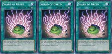 Shard of Greed X 3 1st Mint YSKR-EN041 yugioh