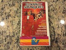 EL DIABLO Y SUS MUJERES aka LOS CRAPULAS RARE NEW BIG BOX CLAMSHELL VHS SPANISH!