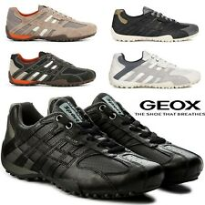Geox Respira Uomo Snake Breathable Men's Leather Sneakers Shoes