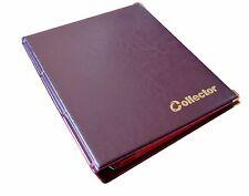 Álbum de monedas Marrón para 280 monedas de medio 50p £ 1 £ 2 Libro Carpeta Páginas de gran capacidad