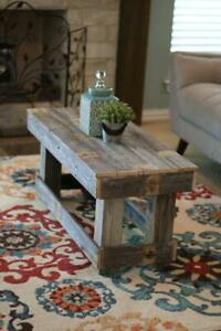 Rustic Wooden Natural Coffee Table no shelf