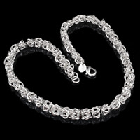 Fashion Women 925 Silver Plated Twisted Rope Bangle Jewelry Charm Cuff Bracelet