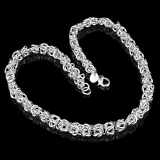 Creative Women 925 Silver Plated Spherical Knot Bangle Chain Bracelet Jewelry