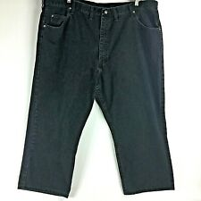 Wrangler Mens Black Relaxed Fit Jeans Size 46X24