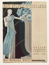 ROGERS BROS. SILVERPLATE CATALOG. C. 1928. International Silver Company.