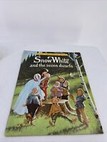 Vintage SNOW WHITE & the SEVEN DWARFS Playmore Giant Coloring Book Unused