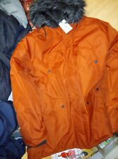 Fabric Long parka jacket  Xxl new with tags Rust  R. R. P £99.99 excellent