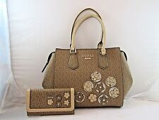 """Society"" New GUESS Purse, Handbag and matching Wallet in mocha Free US Ship"