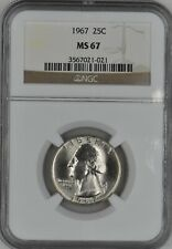 1967 Washington Quarter 25C NGC MS 67
