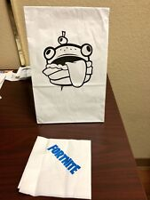 Official Fortnite Durr Burger Lunch Paper Bag (NAPKIN INCLUDED!) PAX West 2018
