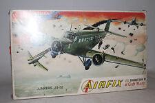 AIRFIX JUNKERS JU-52 WWII GERMAN NAZI MILITARY, 1:72 SCALE, SEALED