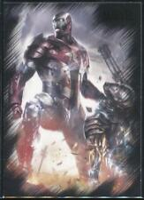 2010 Marvel Heroes and Villains Trading Card #1 War Machine vs. Iron Patriot