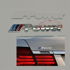 ///Power Emblem For BMW /M Car trunk Badge Decal Sticker M3 M4 M5 X3 X5 M-Serie