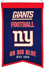 New York Giants Wool Franchise Banner (NEW) NFL Man Cave Sign Wall Flag