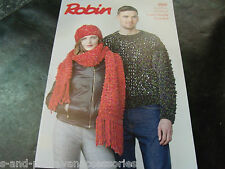 Robin Super Chunky Easy Knit Pattern 3000 Sweater, Hat and Scarf
