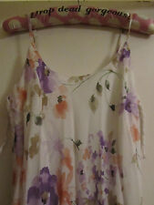 New Look White & Multicoloured Floral Maxi Dress in Size 8 - NWT - Mislabelled