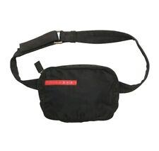 "Prada Sport Waist Bag Black Nylon 1999 Belt Small W28"""