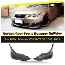 2PCS Carbon Fiber Front Splitters Flaps for BMW E60 E61 M-tech M Sport 03-09