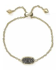 Kendra Scott Elaina Gold Adjustable Chain Bracelet in Platinum DRUSY