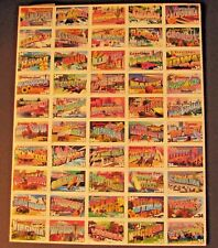 Greetings from America Full Sheet of 50 34-Cent State Stamps USA 2002