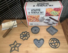 NEW in Box -Vintage Nordic Ware Double Rosette & Timbale Iron 7 Piece Set #01306