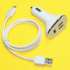 3-Port USB 3.0 Car Charger Adapter Type C Cable Connector for LG V30 Plus LS998