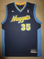 Kenneth Faried Denver Nuggets NBA adidas Jersey M Medium Autograph Signed Auto