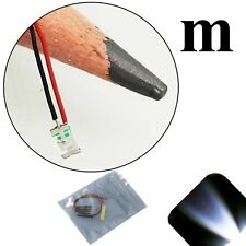 20 x 12v 1206 3216 Cool Clear White SMD LED Pre-Wired Light Soldered Leads 18v