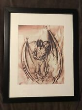 Seductive VAMPIRE Sexy Fantasy Original Drawing Art PRINT on Paper 8x10 SIGNED