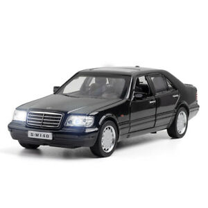 1:32 S-Class W140 Model Car Diecast Vehicle Toy Cars Pull Back Boys Gift Black