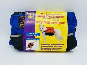 Outward Hound Quick-Release Dog Backpack Saddle Bag Pet Travel Hiking Medium