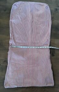 Pottery Barn Side Dining Chair Slip Cover Red Ticking