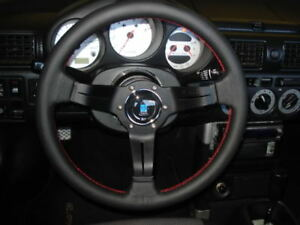 NARDI Deep Corn 330mm Leather Black Spoke Steering Wheel - 6069.33.2093 IN STOCK