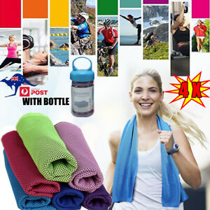 4Pcs Instant Cooling Towel Ice Cold Sports Gym Jogging Cool Instant Dry Sweat