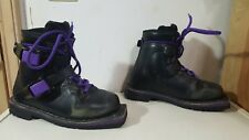 ALICO Black Leather XC Telemark Backcountry 75mm 3 Pin Ski Boots Size Womens 6.5