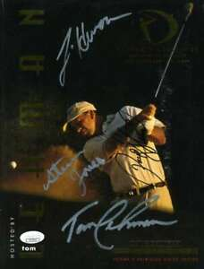 Payne Stewart Jsa Coa Autograph Program Hand Signed X4 Authentic