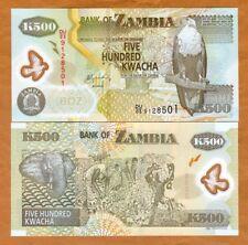 Zambia, 500 Kwacha, POLYMER, 2011, P-43h, UNC