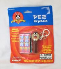 TAZ PEZ KEYCHAIN KEY RING LOONEY TUNES MINI PEZ SEALED damaged packaging