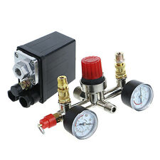 Regulator Heavy Duty Air Compressor Pump Pressure Control Switch + Valve Gauge
