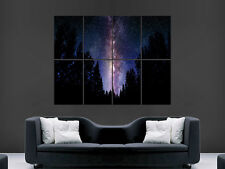 SKY STARS MILKY WAY NIGHT FOREST TREES  ART WALL LARGE IMAGE GIANT POSTER