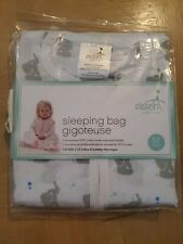 Aden by Aden & Anais sleeping bag pajamas white with elephant infant size M New