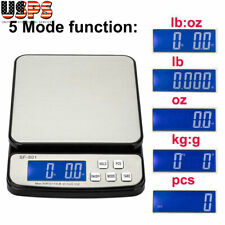 110 Lb X 01oz Digital Postal Shipping Scale Weight Postage Adapter 3x Battery